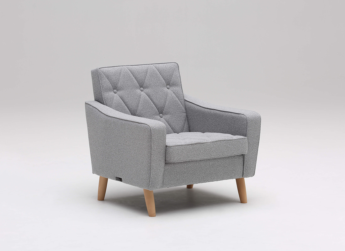 lobby chair one seater mist gray,가리모쿠60